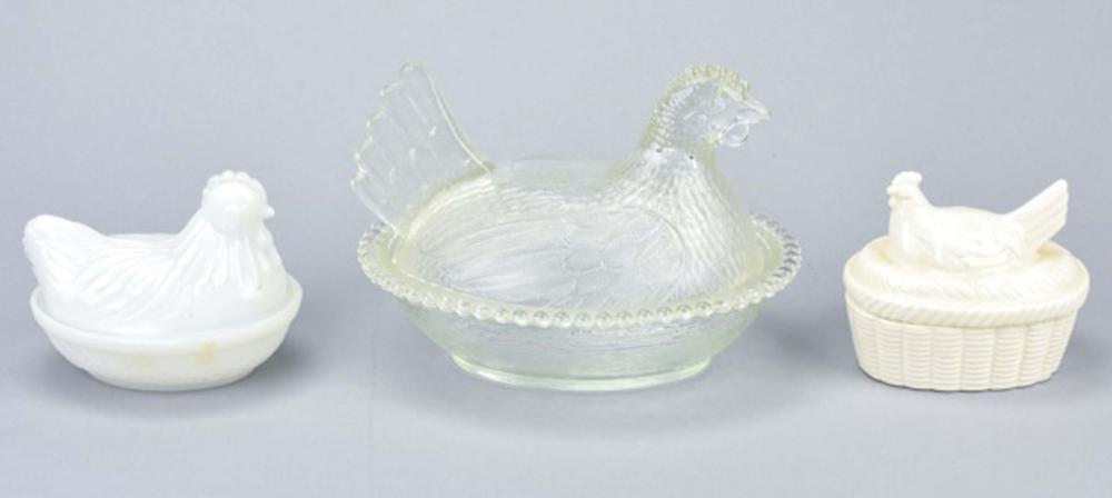 Antique / Vintage Hens on Nest Form Tureens