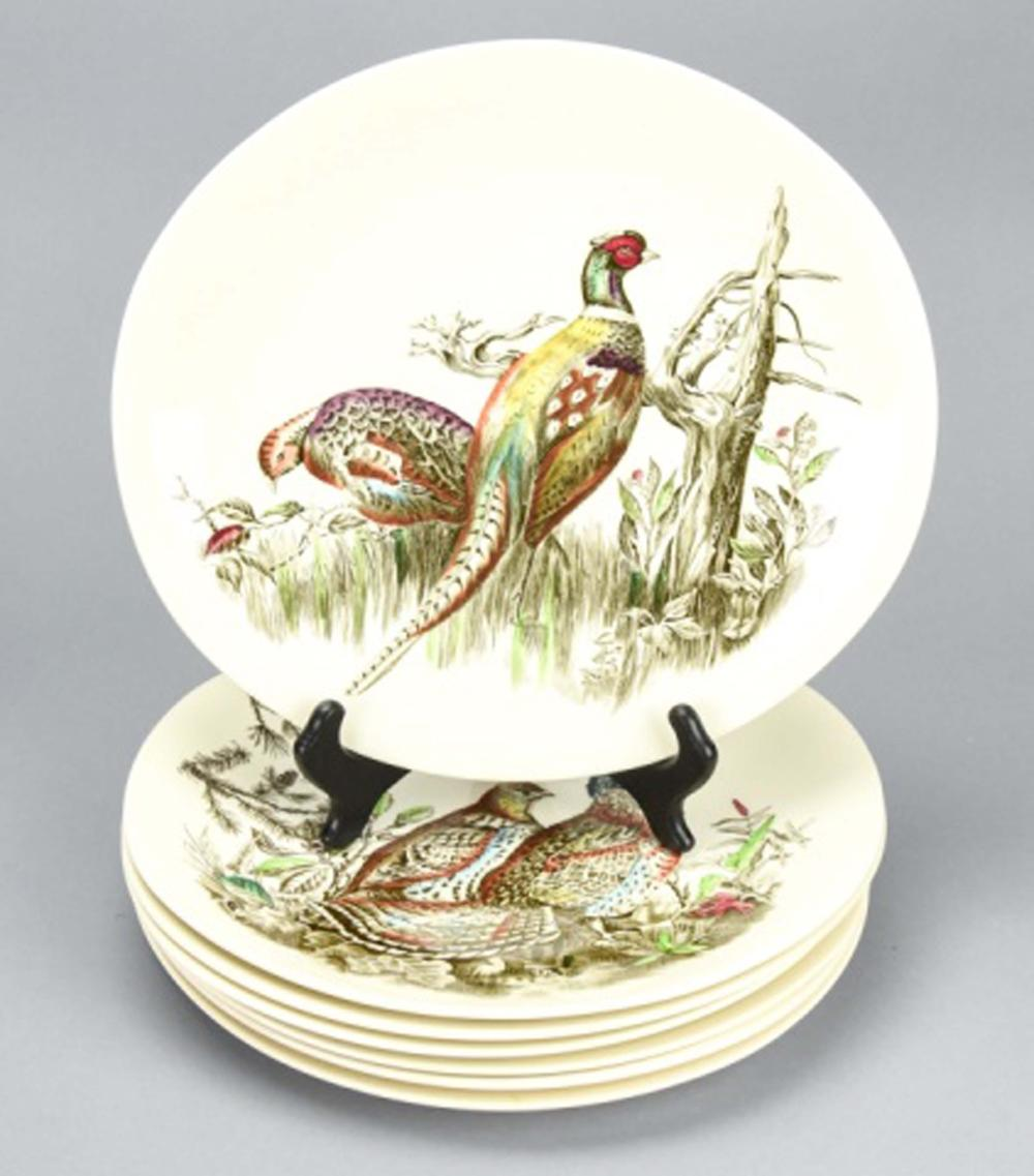7 Johnson Brothers Hand Painted Game Bird Platters