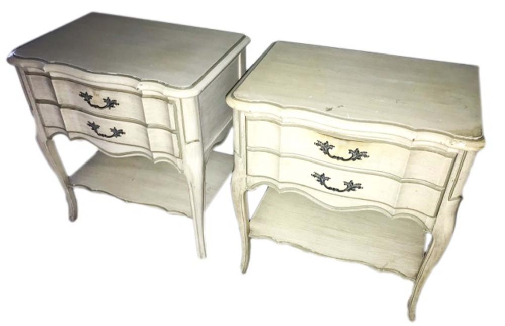 French Country Rococo Style End Tables Night Stand
