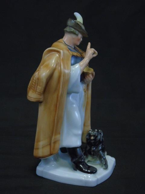 Herend of Hungary - Man Feeding Dog Figurine