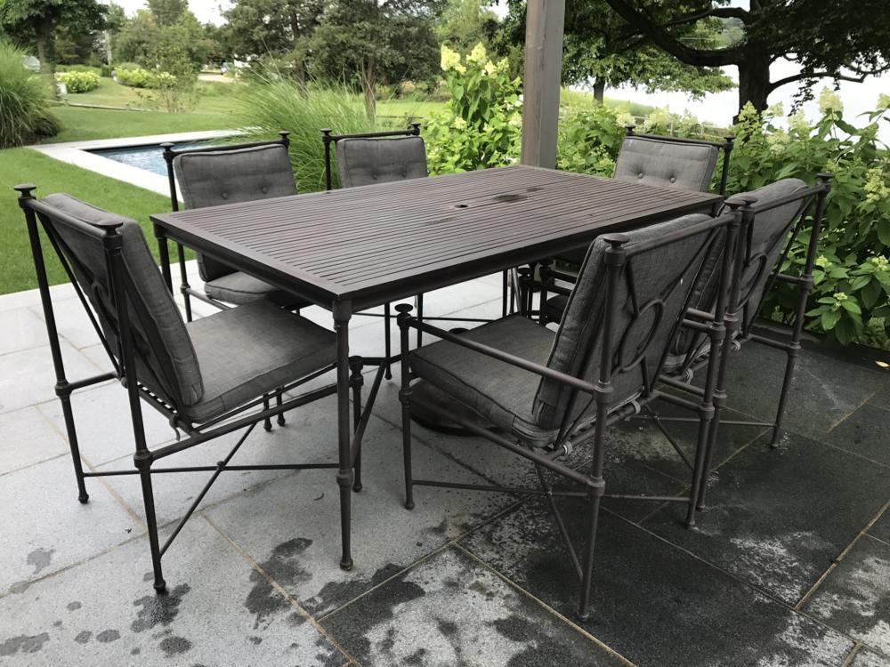 Restoration Hardware Outdoor Dining Table & Chairs
