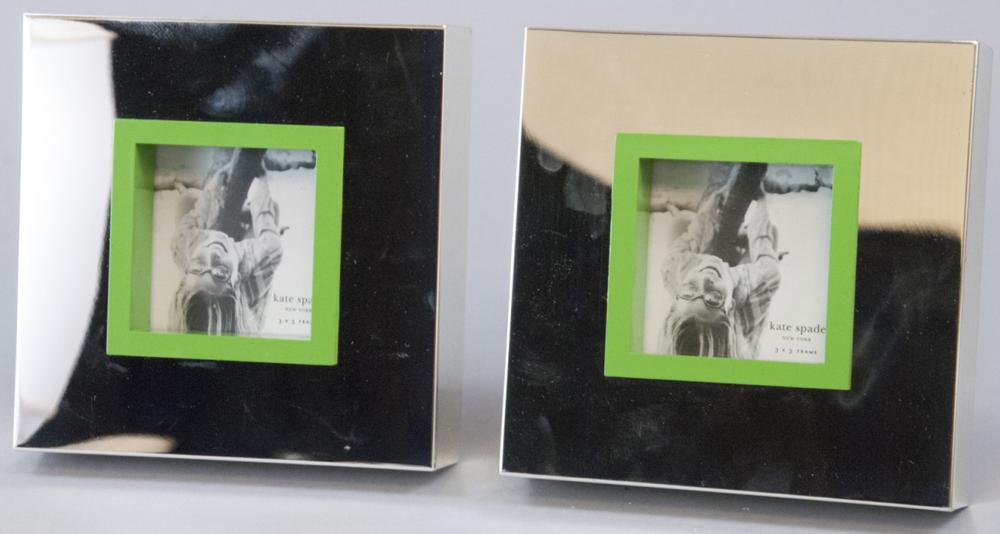 2 Kate Spade Lennox Silver Plate Picture Frames