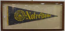 Vintage Framed Notre Dame University Banner
