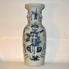 Mid-19th Century Hand-Painted Palace Vase