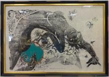 Mitsuzo Yamada 1975 Color Woodblock of Woman- EA