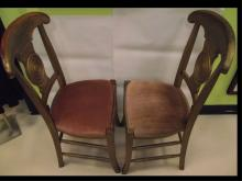 Set of 6 Art Deco Gilt Wood & Fabric Dining Chairs