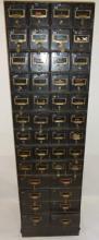 Vintage Black Safety Deposit Box Section