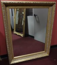 Antique Mirror with Gilt Wood Frame