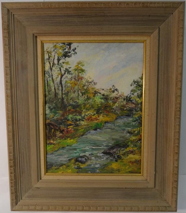 Landscape Oil on Board by Nadine Karnow
