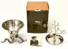 Michael Aram Silver Plate Tree & Serving Dish