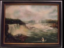 Antique Niagara Falls Scene- Oil on Canvas