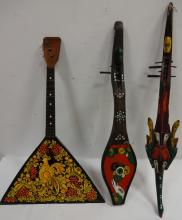 Lot of 3 Vintage Stringed Musical Instruments