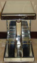 Vintage Mirrored End Table