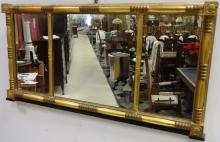 Art Deco Gilt Triptych Mirror