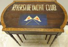 Vintage Nesting Tables w/Riverside Yacht Club Logo