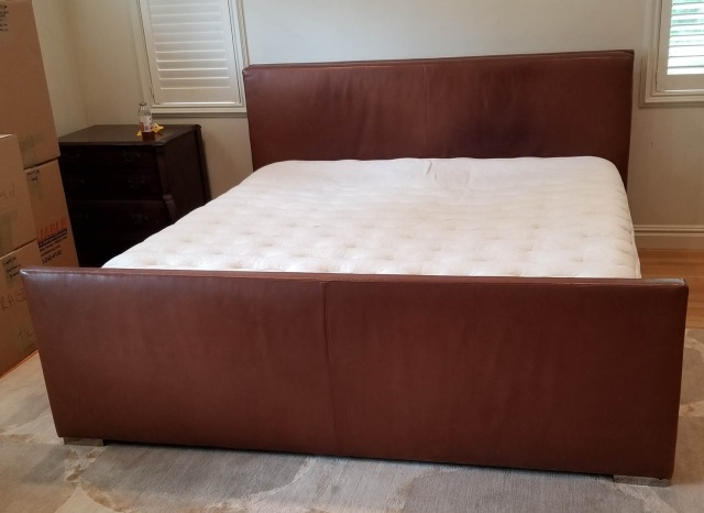 Ralph Lauren Brown Leather King Size Bed