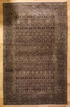 Contemporary Hand Knotted Wool Oriental Throw Rug