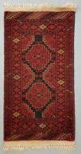 Antique Persian Carpet / Throw Rug Hand Knotted