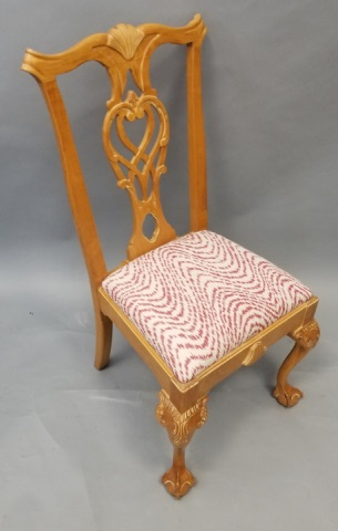 lot 288 chippendale custom upholstered dining room chairs