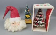 Vintage Santa Claus Christmas Tree & Music Box