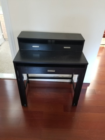 Contemporary Modern Black Desk & Desk Chair