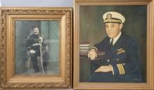 2 Vintage Images Military Men 1 Painting 1 Photo