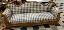 Antique American Empire Mahogany Veneered Sofa