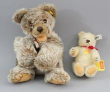Two German Steiff Teddy Bears Stuffed Animals