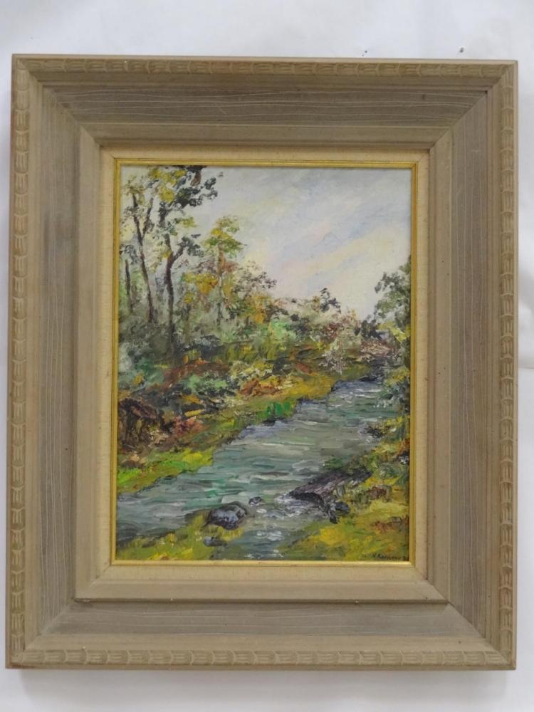 Nadine Karnow- 1960 Landscape- Oil on Board