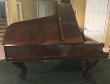 Antique Carved Rosewood 1863 Steinway Grand Piano