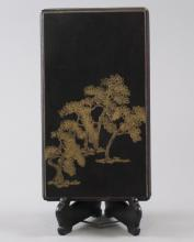 Asian Hand Painted Gold & Lacquer Table Box