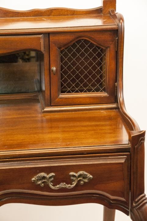 Antique National Mt Airy Furniture Desk W Drawer