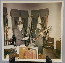 Vintage White House John F Kennedy Photograph