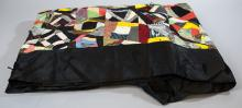 Antique American Hand Sewn Patchwork Crazy Quilt