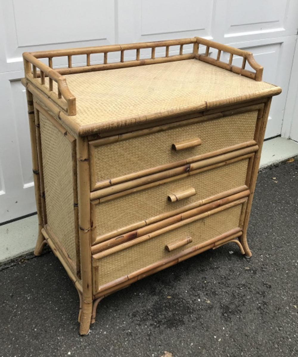 Sold Price Plantation Style Bamboo Rattan Nightstand Plantation Style Hollywood Invalid Date Edt