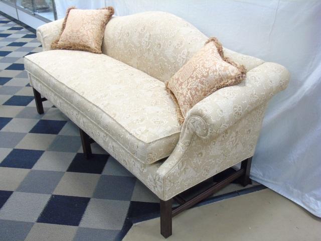 Antique Camelback Sofa W New Custom Upholstery
