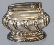 Ronson Crown Silver Plate Antique Table Lighter