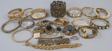 Assorted Vintage Costume Jewelry Bracelets & Pins