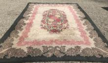 Large American Country Style Floral Motif Carpet