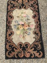 American Country Style Floral Motif Carpet / Rug