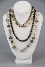 Ribbon and Crystal Costume Necklace Assortment
