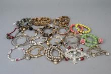 Costume Beaded and Faux Pearl Bracelet Lot