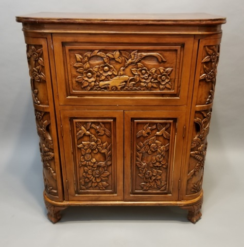 chinese cabinets kitchen style carved wood bar cabinet w lift top 2178