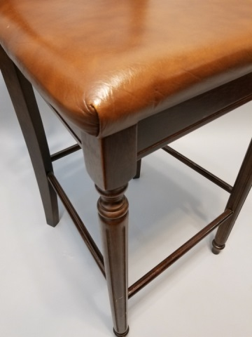 5 Contemporary Wood Leather Bar Counter Stools