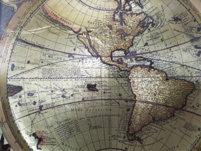 World Map By Peter Schenk The Elder.Vintage Metallic Paper Peter Shenk Map Of World