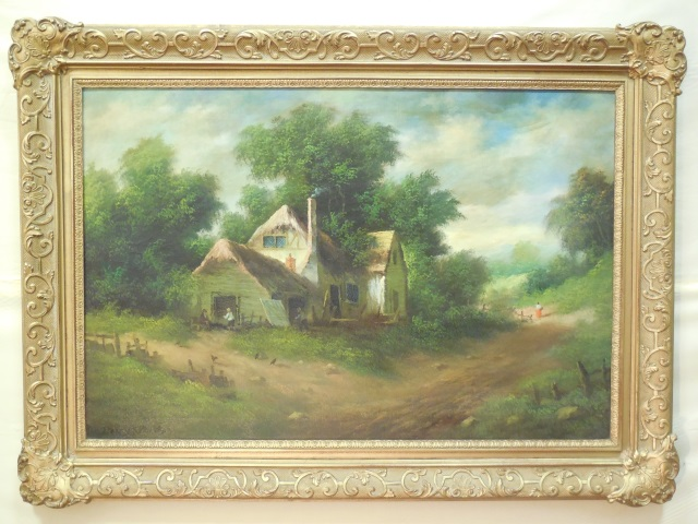 Henry T. Harvey Oil on Canvas Landscape Signed