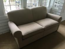 Contemporary Crate & Barrel Beige Sofa