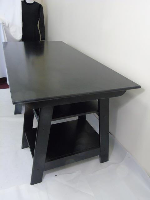 Painted Office Furniture Desk Lot 305 Contemporary Modern Black Painted Office Desk Hashook Contemporary Modern Black Painted Office Desk