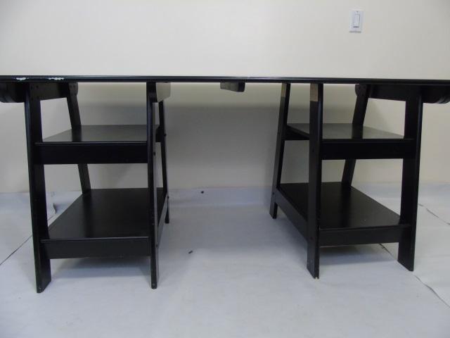 Contemporary Modern Black Painted fice Desk