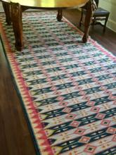 Large Vintage Hand Made Multi-Colored Dhurrie Rug